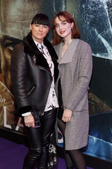 Tara and Faye O'Reilly pictured at the special preview screening of GLASS. Picture Andres Poveda