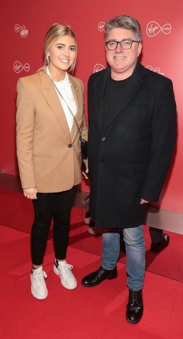 Pat Shortt and daughter Faye Shortt at the Virgin Media Dublin International Film Festival launch at The Lighthouse Cinema, Dublin. Photo: Brian McEvoy