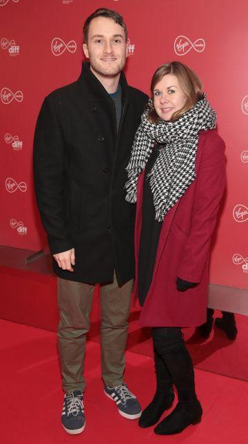 Ian Hunt Duffy and Ann Magnier at the Virgin Media Dublin International Film Festival launch at The Lighthouse Cinema, Dublin. Photo: Brian McEvoy