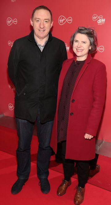 Paul Higgins and Yvonne Reilly at the Virgin Media Dublin International Film Festival launch at The Lighthouse Cinema, Dublin. Photo: Brian McEvoy