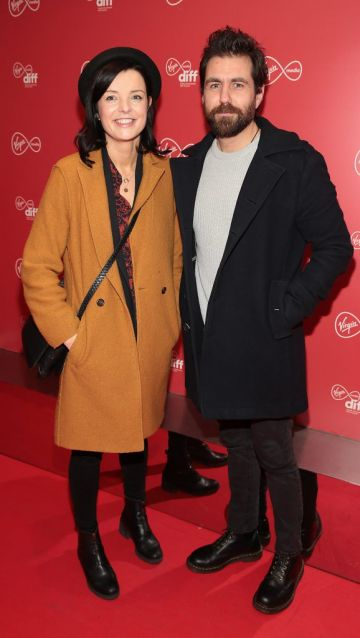 Clare Stronge and Aidan O Neill at the Virgin Media Dublin International Film Festival launch at The Lighthouse Cinema, Dublin. Photo: Brian McEvoy