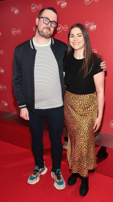 Joey Kavanagh and Paula Lyne at the Virgin Media Dublin International Film Festival launch at The Lighthouse Cinema, Dublin. Photo: Brian McEvoy