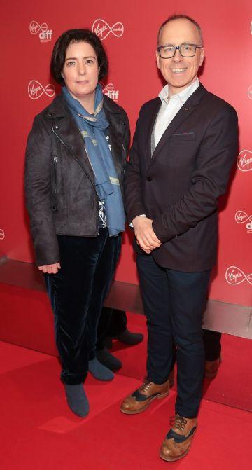 Grainne Humphreys and Aidan Greene at the Virgin Media Dublin International Film Festival launch at The Lighthouse Cinema, Dublin. Photo: Brian McEvoy