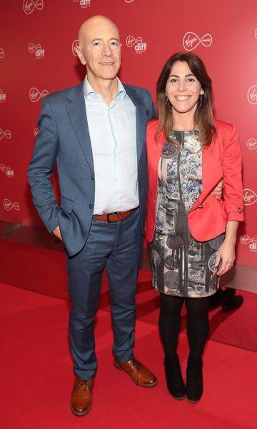 Ray Ronan and Camille Donegan at the Virgin Media Dublin International Film Festival launch at The Lighthouse Cinema, Dublin. Photo: Brian McEvoy