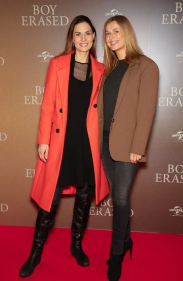 Alison Canavan & Roxanne Parker pictured at an exclusive preview screening of BOY ERASED at The Stella Theatre, Ranelagh. BOY ERASED, an emotional coming-of-age and coming out drama about a young man's journey to self-acceptance, stars Academy Award nominee Lucas Hedges alongside Academy Award winners Nicole Kidman and Russell Crowe. Guests were treated to a prosecco & canapé reception upon arrival and had the pleasure of seeing the film before it hits cinemas across Ireland on February 8th. Photo: Anthony Woods