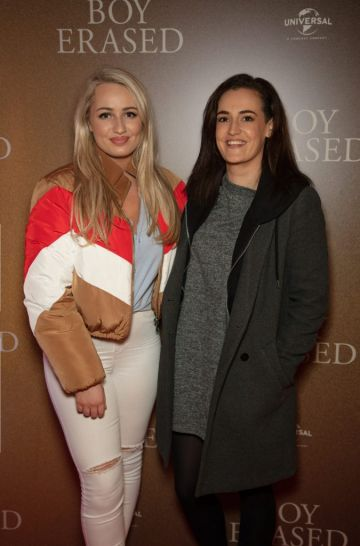 Hannah Cassidy & Alice Higgins pictured at an exclusive preview screening of BOY ERASED at The Stella Theatre, Ranelagh. BOY ERASED, an emotional coming-of-age and coming out drama about a young man's journey to self-acceptance, stars Academy Award nominee Lucas Hedges alongside Academy Award winners Nicole Kidman and Russell Crowe. Guests were treated to a prosecco & canapé reception upon arrival and had the pleasure of seeing the film before it hits cinemas across Ireland on February 8th. Photo: Anthony Woods