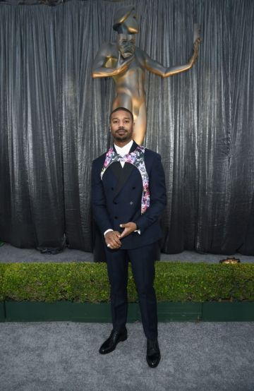 LOS ANGELES, CA - JANUARY 27:  Michael B. Jordan attends the 25th Annual Screen ActorsGuild Awards at The Shrine Auditorium on January 27, 2019 in Los Angeles, California. 480595  (Photo by Dimitrios Kambouris/Getty Images for Turner)