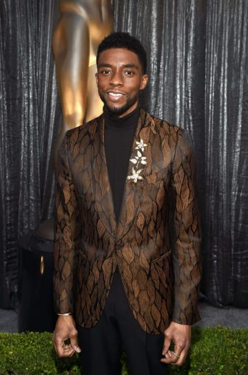 LOS ANGELES, CA - JANUARY 27:  Chadwick Boseman attends the 25th Annual Screen ActorsGuild Awards at The Shrine Auditorium on January 27, 2019 in Los Angeles, California. 480595  (Photo by Dimitrios Kambouris/Getty Images for Turner)
