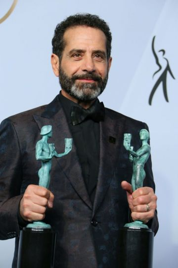 """Outstanding Performance by a Male Actor in a Comedy Series for """"The Marvelous Mrs. Maisel"""" winner Tony Shalhoub poses in the press room during the 25th Annual Screen Actors Guild Awards at the Shrine Auditorium in Los Angeles on January 27, 2019. (Photo by Jean-Baptiste LACROIX / AFP)        (Photo credit should read JEAN-BAPTISTE LACROIX/AFP/Getty Images)"""