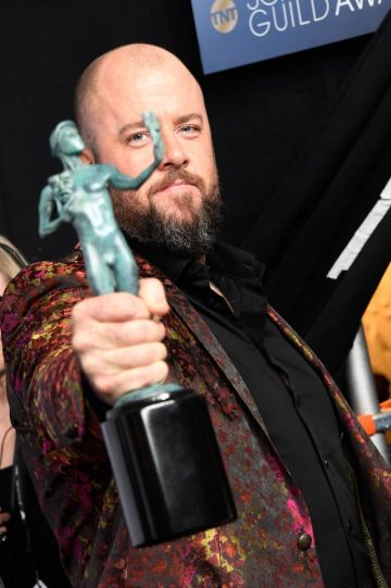 LOS ANGELES, CA - JANUARY 27:  Chris Sullivan, winner of Outstanding Performance by an Ensemble in a Drama Series for ''This Is Us,' poses in the press room during the 25th Annual Screen ActorsGuild Awards at The Shrine Auditorium on January 27, 2019 in Los Angeles, California.  (Photo by Frazer Harrison/Getty Images)