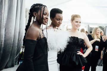 LOS ANGELES, CALIFORNIA - JANUARY 27: (EDITORS NOTE: Image has been edited using digital filters) (L-R) Lupita Nyongo, Danai Gurira, and Amy Adams arrive at the 25th annual Screen Actors Guild Awards at The Shrine Auditorium on January 27, 2019 in Los Angeles, California. (Photo by Emma McIntyre/Getty Images for Turner)