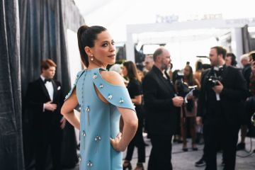 LOS ANGELES, CALIFORNIA - JANUARY 27:  (EDITORS NOTE: Image has been edited using a digital filter) Jackie Tohn arrives at the 25th annual Screen Actors Guild Awards at The Shrine Auditorium on January 27, 2019 in Los Angeles, California. (Photo by Emma McIntyre/Getty Images for Turner)