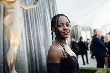 LOS ANGELES, CALIFORNIA - JANUARY 27: (EDITORS NOTE: Image has been edited using digital filters) Lupita Nyongo arrives at the 25th annual Screen Actors Guild Awards at The Shrine Auditorium on January 27, 2019 in Los Angeles, California. (Photo by Emma McIntyre/Getty Images for Turner)
