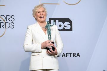 LOS ANGELES, CALIFORNIA - JANUARY 27: Glenn Close poses in the press room at the 25th annual Screen Actors Guild Awards at The Shrine Auditorium on January 27, 2019 in Los Angeles, California. (Photo by Sarah Morris/Getty Images)