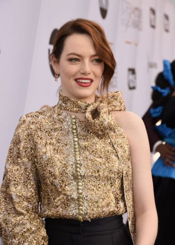LOS ANGELES, CA - JANUARY 27:  Emma Stone attends the 25th Annual Screen Actors Guild Awards at The Shrine Auditorium on January 27, 2019 in Los Angeles, California.  (Photo by Presley Ann/Getty Images)