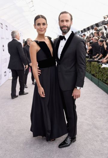 LOS ANGELES, CA - JANUARY 27:  Maria Dolores Dieguez and Joseph Fiennes attends the 25th Annual Screen Actors Guild Awards at The Shrine Auditorium on January 27, 2019 in Los Angeles, California.  (Photo by Presley Ann/Getty Images)
