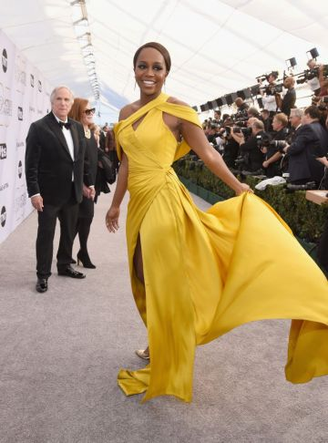 LOS ANGELES, CA - JANUARY 27:  Aja Naomi King attends the 25th Annual Screen Actors Guild Awards at The Shrine Auditorium on January 27, 2019 in Los Angeles, California.  (Photo by Presley Ann/Getty Images)