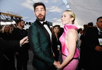 LOS ANGELES, CA - JANUARY 27:  John Krasinski and Emily Blunt attend the 25th Annual Screen Actors Guild Awards at The Shrine Auditorium on January 27, 2019 in Los Angeles, California.  (Photo by Kevork Djansezian/Getty Images)