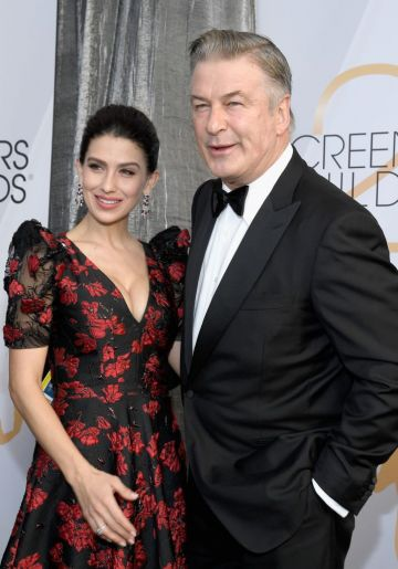 LOS ANGELES, CA - JANUARY 27:   (L-R) Hilaria Baldwin and Alec Baldwin the 25th Annual Screen Actors Guild Awards at The Shrine Auditorium on January 27, 2019 in Los Angeles, California.  (Photo by Kevork Djansezian/Getty Images)