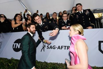 LOS ANGELES, CA - JANUARY 27:  John Krasinski (L) and Emily Blunt attend the 25th Annual Screen Actors Guild Awards at The Shrine Auditorium on January 27, 2019 in Los Angeles, California.  (Photo by Kevork Djansezian/Getty Images)