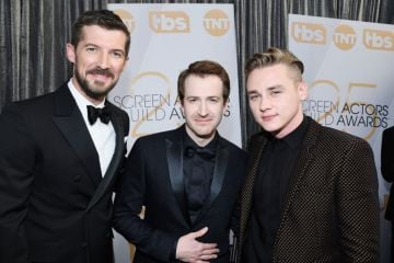 LOS ANGELES, CA - JANUARY 27:  (L-R) Gwilym Lee, Joseph Mazzello, and Ben Hardy attend the 25th Annual Screen Actors Guild Awards at The Shrine Auditorium on January 27, 2019 in Los Angeles, California.  (Photo by Kevork Djansezian/Getty Images)