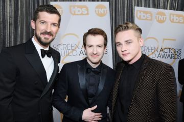 LOS ANGELES, CA - JANUARY 27:  (L-R) Gwilym Lee, Joseph Mazzello, and Ben Hardy attend the 25th Annual Screen ActorsGuild Awards at The Shrine Auditorium on January 27, 2019 in Los Angeles, California.  (Photo by Kevork Djansezian/Getty Images)