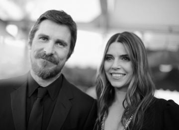 LOS ANGELES, CA - JANUARY 27:  Christian Bale (L) and Sibi Blazic attend the 25th Annual Screen ActorsGuild Awards at The Shrine Auditorium on January 27, 2019 in Los Angeles, California. 480620  (Photo by Charley Gallay/Getty Images for Turner)