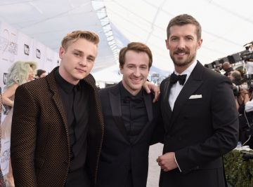 LOS ANGELES, CA - JANUARY 27:  (L-R) Ben Hardy, Joseph Mazzello, and Gwilym Lee attend the 25th Annual Screen Actors Guild Awards at The Shrine Auditorium on January 27, 2019 in Los Angeles, California.  (Photo by Presley Ann/Getty Images)