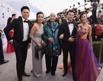 LOS ANGELES, CA - JANUARY 27:  (L-R) Jon M. Chu, Tan Kheng Hua, Lisa Lu, Ronny Chieng, and Fiona Xie attend the 25th Annual Screen Actors Guild Awards at The Shrine Auditorium on January 27, 2019 in Los Angeles, California.  (Photo by Presley Ann/Getty Images)
