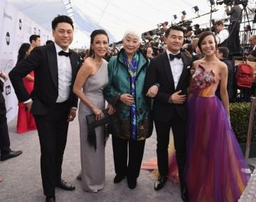 LOS ANGELES, CA - JANUARY 27:  (L-R) Jon M. Chu, Tan Kheng Hua, Lisa Lu, Ronny Chieng, and Fiona Xie attend the 25th Annual Screen ActorsGuild Awards at The Shrine Auditorium on January 27, 2019 in Los Angeles, California.  (Photo by Presley Ann/Getty Images)