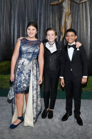 LOS ANGELES, CA - JANUARY 27:  (L-R) Mackenzie Hancsicsak, Parker Bates, and Lonnie Chavis attend the 25th Annual Screen Actors Guild Awards at The Shrine Auditorium on January 27, 2019 in Los Angeles, California.  (Photo by Kevork Djansezian/Getty Images)