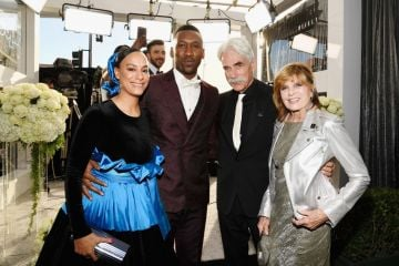 LOS ANGELES, CA - JANUARY 27:  (L-R) Amatus Sami-Karim, Mahershala Ali , Sam Elliott, and Katharine Ross attend the 25th Annual Screen Actors Guild Awards at The Shrine Auditorium on January 27, 2019 in Los Angeles, California.  (Photo by Kevork Djansezian/Getty Images)