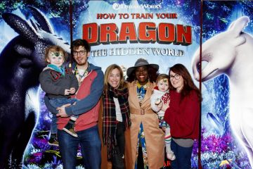 Repro Free: 27/01/2019 Hunter Hayes-Swaine, Conor Swaine, Trudi Hayes,  Nadine Reid, Reilly Hayes-Swaine and Tanya Hayes pictured at the Irish premiere screening of HOW TO TRAIN YOUR DRAGON: THE HIDDEN WORLD at the Light House Cinema, Dublin. Starring Kit Harrington, Cate Blanchett, America Ferrera, Jonah Hill, Kristen Wiig and Jay Baruchel, HOW TO TRAIN YOUR DRAGON : THE HIDDEN WORLD hits cinemas across Ireland from February 1st. Now chief and ruler of Berk alongside Astrid, Hiccup has created a gloriously chaotic dragon utopia.  When the sudden appearance of female Light Fury coincides with the darkest threat their village has ever faced, Hiccup and Toothless must leave the only home they've known and journey to a hidden world thought only to exist in myth.  As their true destines are revealed, dragon and rider will fight together—to the very ends of the Earth—to protect everything they've grown to treasure. Picture Andres Poveda