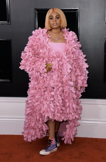 Taylor Parks arrives for the 61st Annual Grammy Awards on February 10, 2019, in Los Angeles. (Photo by VALERIE MACON / AFP)        (Photo credit should read VALERIE MACON/AFP/Getty Images)