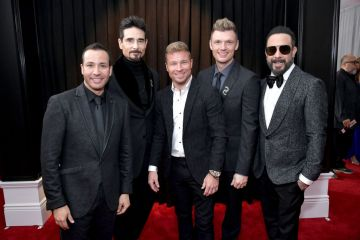 LOS ANGELES, CA - FEBRUARY 10:  (L-R) Howie Dorough, Kevin Richardson, Brian Littrell, Nick Carter, and AJ McLean of Backstreet Boys attends the 61st Annual GRAMMY Awards at Staples Center on February 10, 2019 in Los Angeles, California.  (Photo by Neilson Barnard/Getty Images for The Recording Academy)