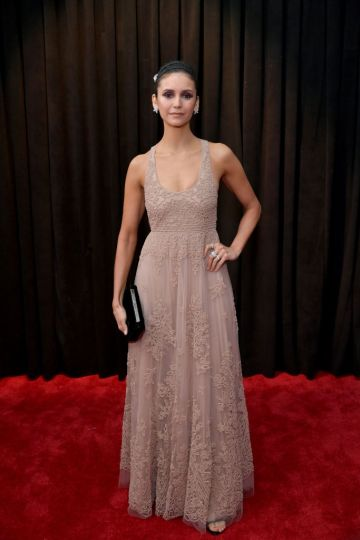 LOS ANGELES, CA - FEBRUARY 10:  Nina Dobrev attends the 61st Annual GRAMMY Awards at Staples Center on February 10, 2019 in Los Angeles, California.  (Photo by Neilson Barnard/Getty Images for The Recording Academy)