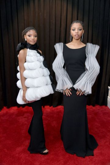 LOS ANGELES, CA - FEBRUARY 10:  (L-R) Halle Bailey and Chloe Bailey of Chloe X Halle attend the 61st Annual GRAMMY Awards at Staples Center on February 10, 2019 in Los Angeles, California.  (Photo by Neilson Barnard/Getty Images for The Recording Academy)