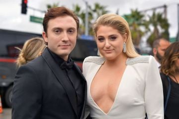 LOS ANGELES, CA - FEBRUARY 10:  Daryl Sabara (L) and Meghan Trainor attend the 61st Annual GRAMMY Awards at Staples Center on February 10, 2019 in Los Angeles, California.  (Photo by Matt Winkelmeyer/Getty Images for The Recording Academy)