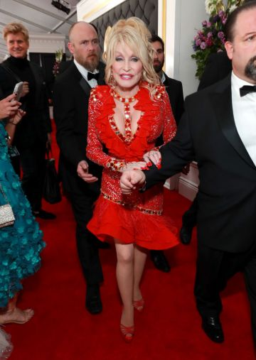 LOS ANGELES, CA - FEBRUARY 10:  Dolly Parton attends the 61st Annual GRAMMY Awards at Staples Center on February 10, 2019 in Los Angeles, California.  (Photo by Rich Fury/Getty Images for The Recording Academy)