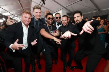 LOS ANGELES, CA - FEBRUARY 10:  Backstreet Boys and shaggy attend the 61st Annual GRAMMY Awards at Staples Center on February 10, 2019 in Los Angeles, California.  (Photo by Rich Fury/Getty Images for The Recording Academy)