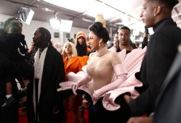 LOS ANGELES, CA - FEBRUARY 10:  Cardi B attends the 61st Annual GRAMMY Awards at Staples Center on February 10, 2019 in Los Angeles, California.  (Photo by Rich Fury/Getty Images for The Recording Academy)
