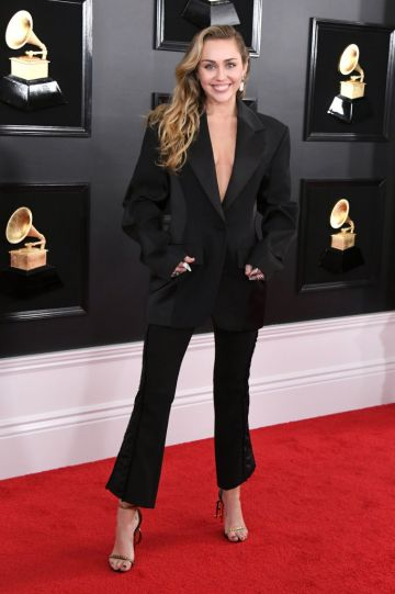 LOS ANGELES, CALIFORNIA - FEBRUARY 10: Miley Cyrus attends the 61st Annual GRAMMY Awards at Staples Center on February 10, 2019 in Los Angeles, California. (Photo by Jon Kopaloff/Getty Images)