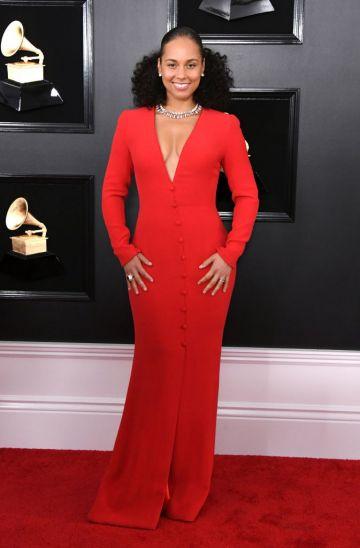 LOS ANGELES, CALIFORNIA - FEBRUARY 10: Alicia Keys attends the 61st Annual GRAMMY Awards at Staples Center on February 10, 2019 in Los Angeles, California. (Photo by Jon Kopaloff/Getty Images)