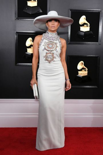 LOS ANGELES, CALIFORNIA - FEBRUARY 10: Jennifer Lopez attends the 61st Annual GRAMMY Awards at Staples Center on February 10, 2019 in Los Angeles, California. (Photo by Jon Kopaloff/Getty Images)