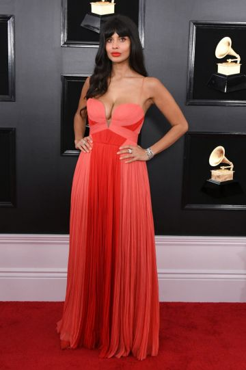 LOS ANGELES, CALIFORNIA - FEBRUARY 10: Jameela Jamil attends the 61st Annual GRAMMY Awards at Staples Center on February 10, 2019 in Los Angeles, California. (Photo by Jon Kopaloff/Getty Images)