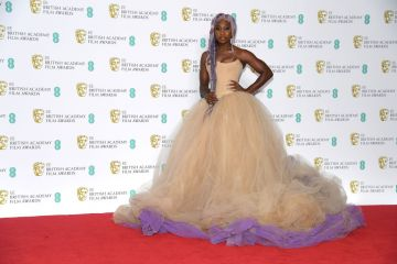 LONDON, ENGLAND - FEBRUARY 10:  Cynthia Erivo poses in the press room during the EE British Academy Film Awards at Royal Albert Hall on February 10, 2019 in London, England. (Photo by Pascal Le Segretain/Getty Images)