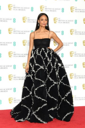 LONDON, ENGLAND - FEBRUARY 10:  Thandie Newton poses in the press room during the EE British Academy Film Awards at Royal Albert Hall on February 10, 2019 in London, England. (Photo by Pascal Le Segretain/Getty Images)