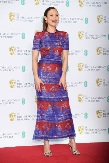 LONDON, ENGLAND - FEBRUARY 10:  Olga Kurylenko in the press room during the EE British Academy Film Awards at Royal Albert Hall on February 10, 2019 in London, England. (Photo by Pascal Le Segretain/Getty Images)