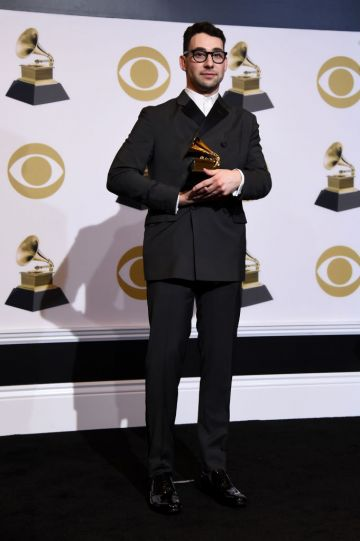 LOS ANGELES, CALIFORNIA - FEBRUARY 10: Jack Antonoff, winner of Best Rock Song for 'Masseduction,' poses in the press room during the 61st Annual GRAMMY Awards at Staples Center on February 10, 2019 in Los Angeles, California. (Photo by Amanda Edwards/Getty Images)