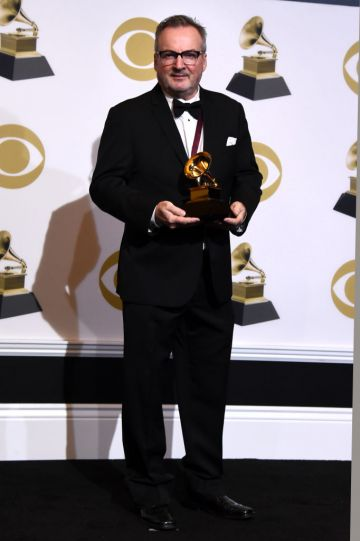 LOS ANGELES, CALIFORNIA - FEBRUARY 10: Dave Donnelly, winner of Best Immersive Audio Album for 'Eye in the Sky:35th Anniversary Edition,' poses in the press room during the 61st Annual GRAMMY Awards at Staples Center on February 10, 2019 in Los Angeles, California. (Photo by Amanda Edwards/Getty Images)